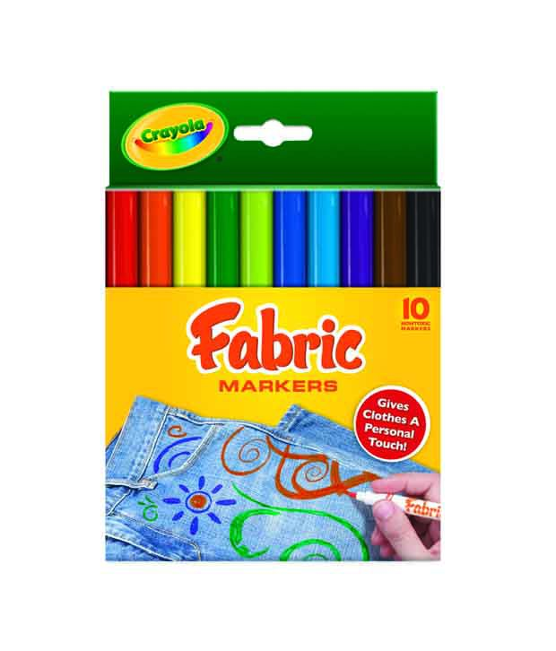 Crayola 10 Color Fabric Markers: Buy Online at Best Price in India ...
