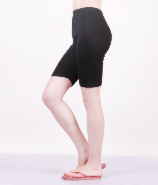 403ba7cf5924c Buy Bodycare Black-White Knee Length Tights Pack Of 2 Online at Best ...