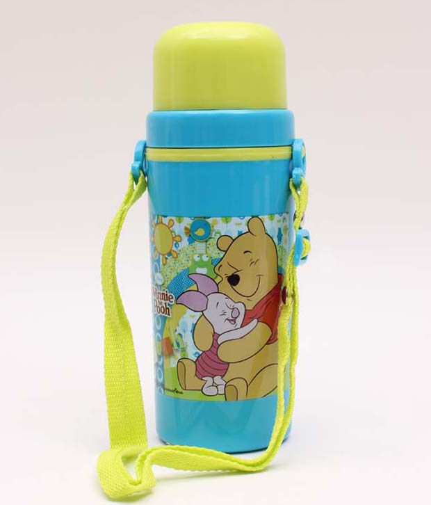 Pooh Blue And Green Attractive Sipper Bottle