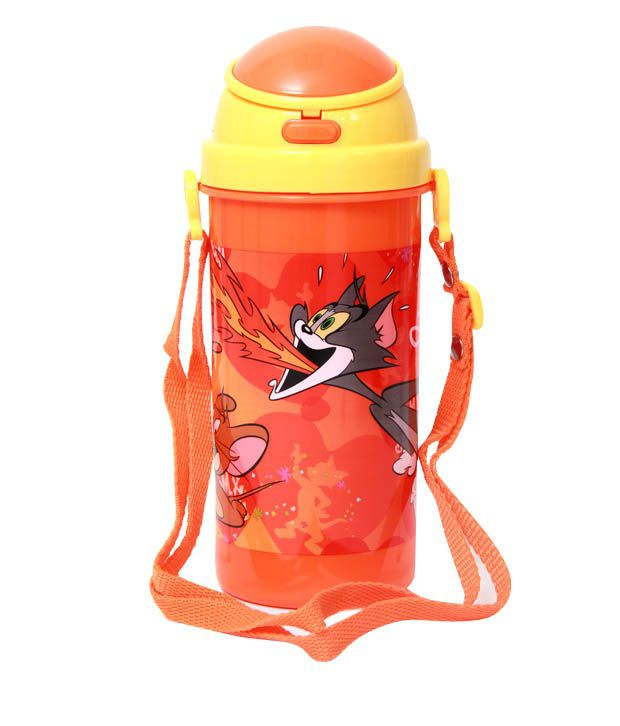 Tom & Jerry Orange & Yellow Shiny Sipper Bottle