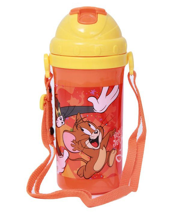 Tom & Jerry Orange & Yellow Vibrant Sipper Bottle