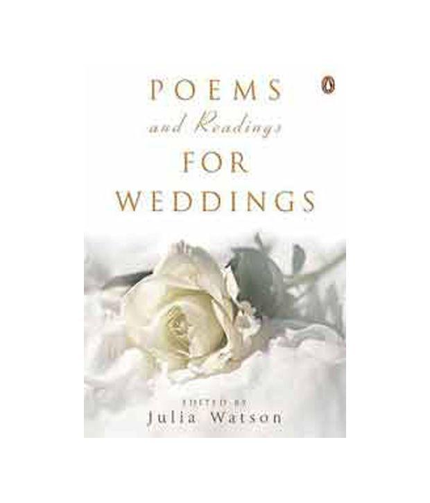 Poems Amp Readings For Weddings Buy Poems Amp Readings For Weddings Online At Low Price In India On