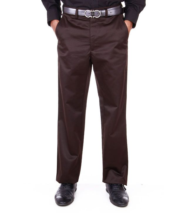 Peter England Khakhi Formal Trouser