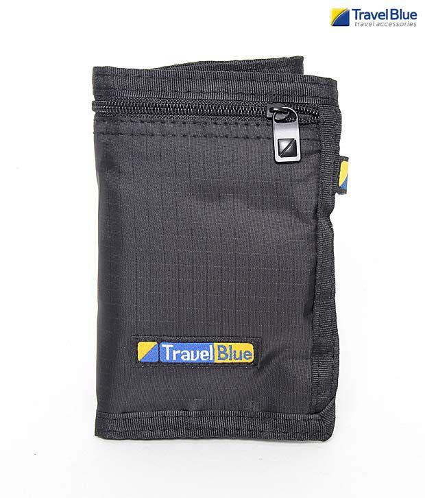 Travel Blue Black Security Money Belt