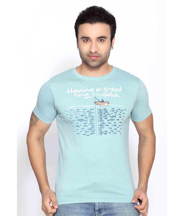 Locomotive Sea Blue T Shirt
