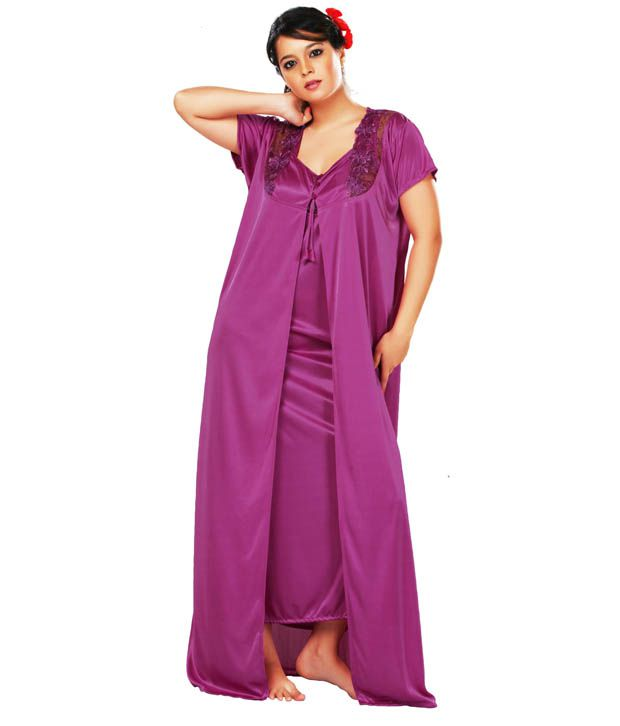 Buy Lucy Secret Fuchsia Designer Nighty With Robe Online at Best Prices in  India - Snapdeal 482fe4f00