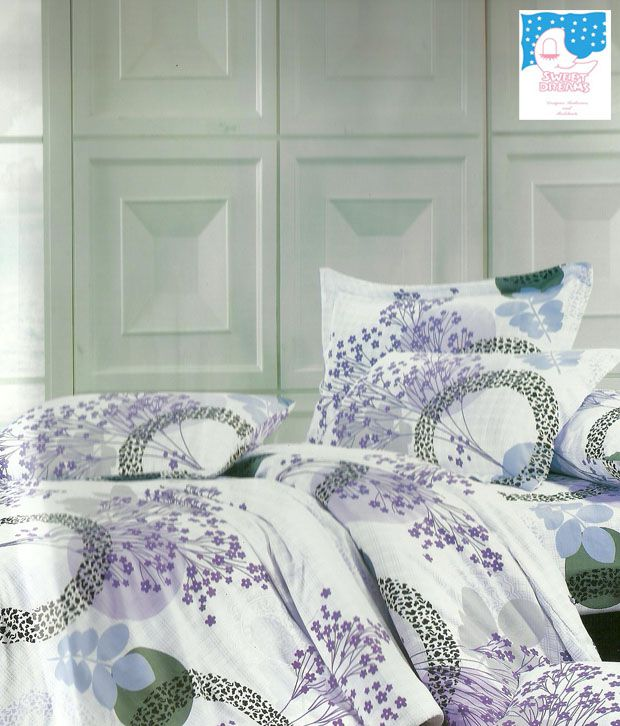 Sweet Dreams White Floral Bed Sheet Set