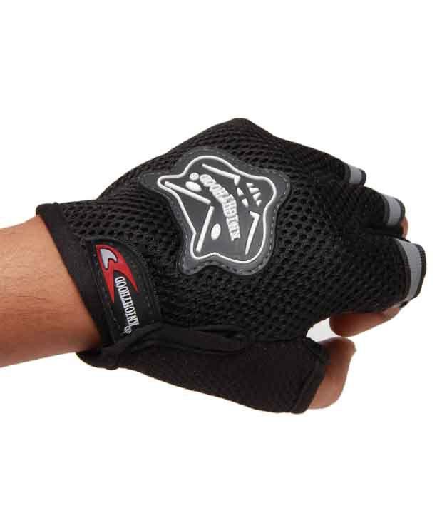Knight Hood - Gloves Half - Black - Size (XL)
