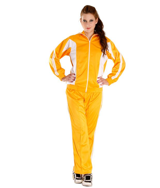 Finesse Trendy Yellow Track Suit