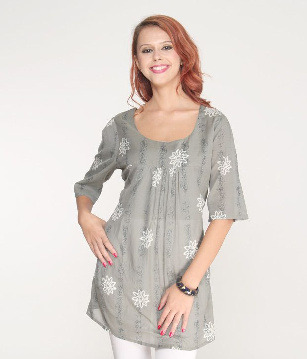 Jiwan Sophisticated Grey Top