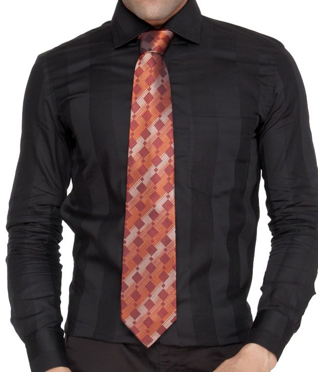 Marc Orange Pure Silk Necktie