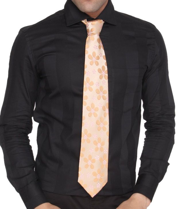 Marc Peach Pure Silk Necktie