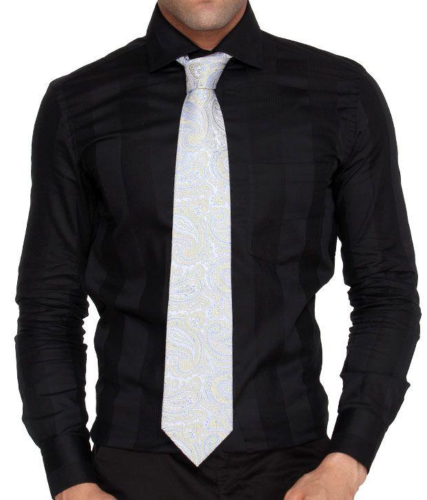 Marc Blue Paisley Pure Silk Necktie