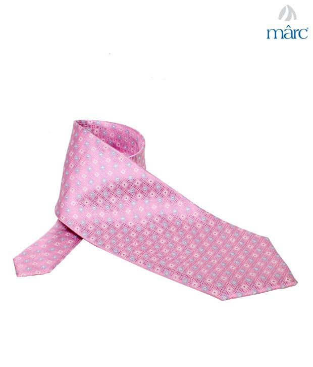 Marc Pink Square Stitch Necktie