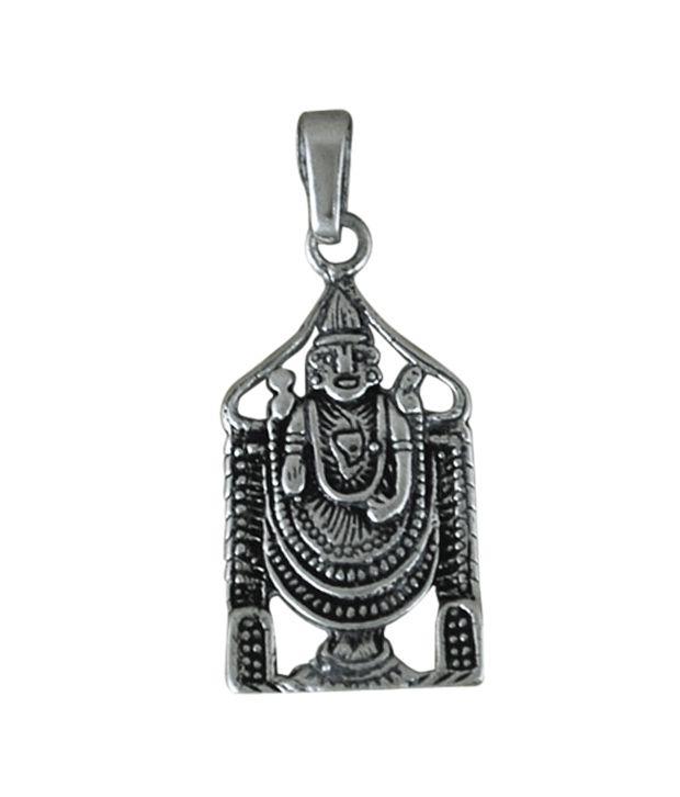 Indian Silver Tirupati Balaji Silver Pendant: Buy Indian Silver