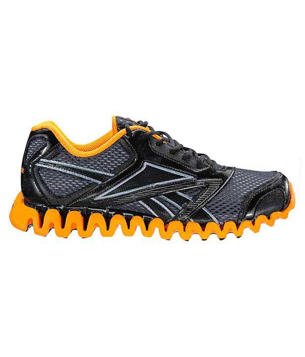 Reebok Zignano Race Black   Orange Running Shoes - Buy Reebok ... 119653e60