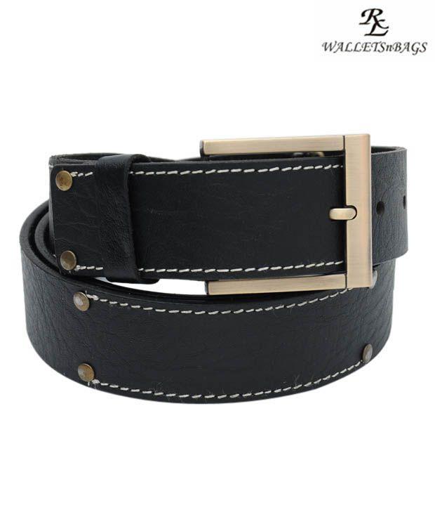 WalletsnBags Modish Black  Belt