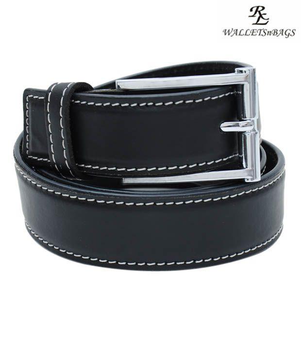 WalletsnBags Stylish Black Casual Belt