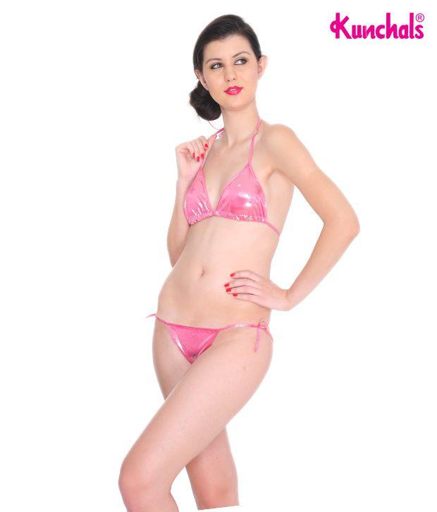 Kunchals Pink Polyamide and Spandex Swimwear