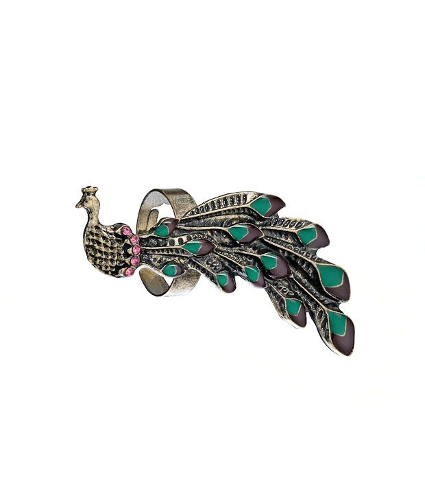 Youshine Studded Peacock Ring
