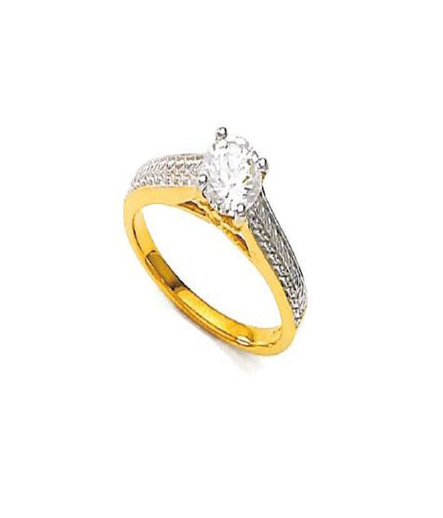 Bold Exotic Two Tone Solitaire Look Ring