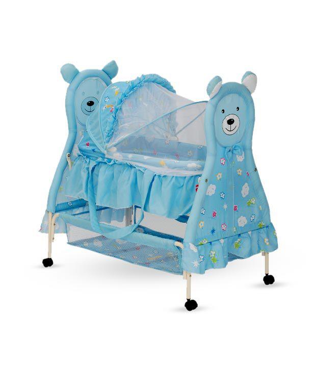 Delia Baby Teddy Face Bassinet-Blue
