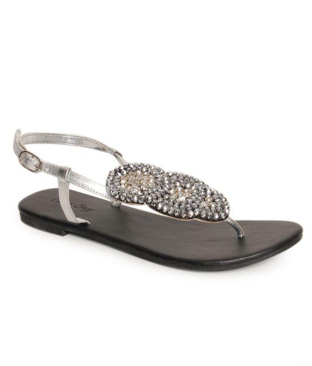 Oscar Marvellous Silver Flat Sandals