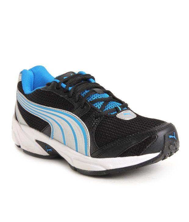 d2abb5302d2c ... website for discount a8a55 22809 Puma Flash IND Black Blue Sports Shoes  .. ...