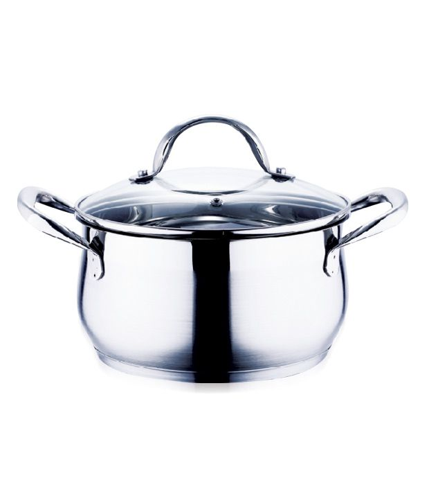bergner stainless steel cookware with lid buy online at best price rh snapdeal com