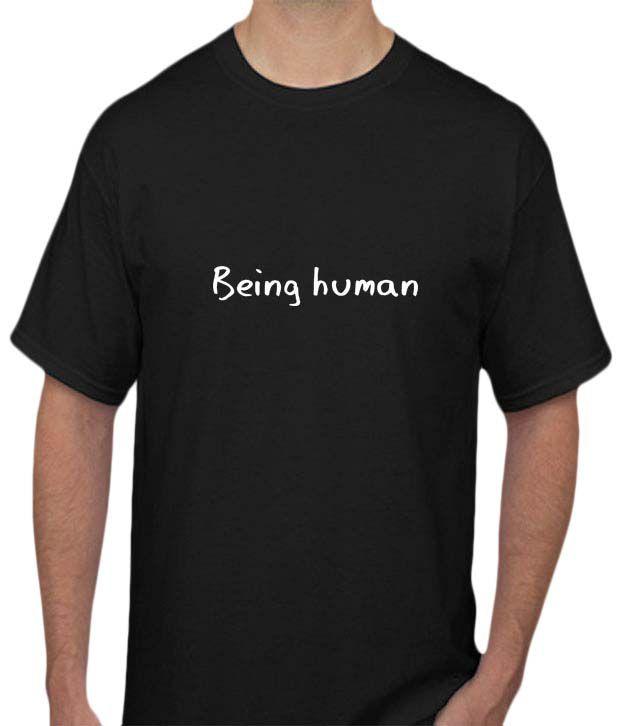 Black being human t shirt buy black for Buy being human t shirts online