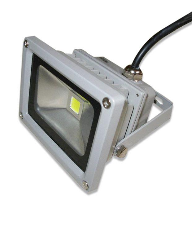 Led Flood Light India: Neon Gate 9 LED Flood Lights- 10 Watts- Warm White: Buy
