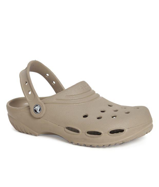 45eb7c493 Crocs Khaki Brown Clog Shoes - Buy Crocs Khaki Brown Clog Shoes Online at  Best Prices in India on Snapdeal