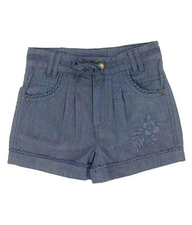 ShopperTree Blue Denim Shorts For Kids