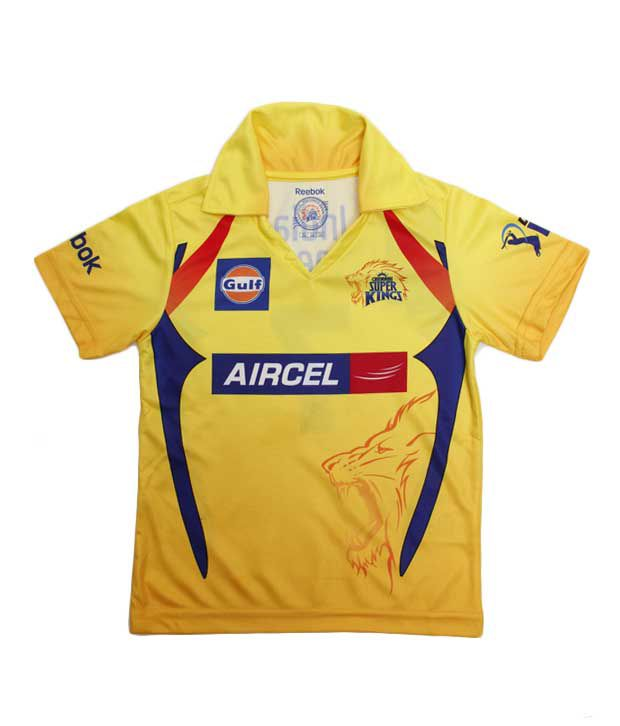 e5b7b3f817c7 Reebok IPL CSK Yellow Boys Jersey For Kids - Buy Reebok IPL CSK Yellow Boys  Jersey For Kids Online at Low Price - Snapdeal