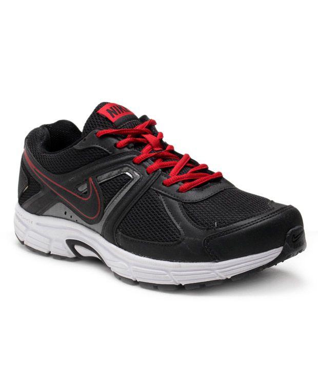 Nike Tough Black & Red Sports Shoes