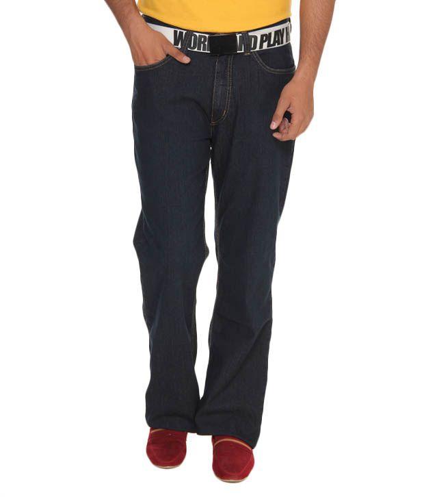 Lee Cooper Originals Navy Blue Regular Fit Jeans