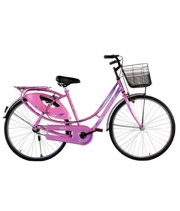 83e02187f0c BSA-Ladybird SPLASH-S/S-26T-Integrated carrier (Sr-Ladies)Bicycle Adult  Bicycle/Man/Men/Women: Buy Online at Best Price on Snapdeal