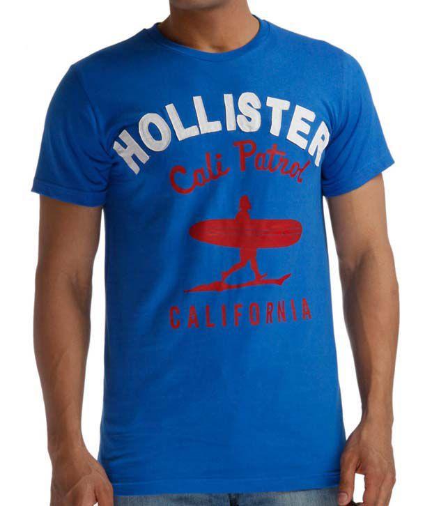 Hollister Blue California T Shirt Buy Hollister Blue California T
