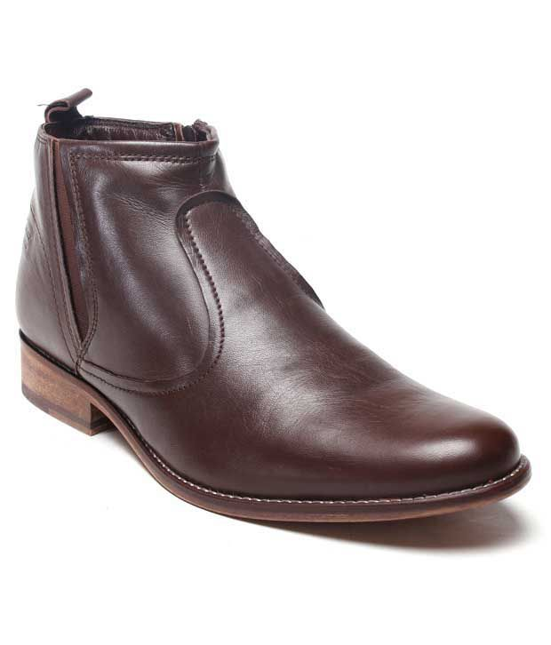 Franco Leone Prominent Brown Ankle Length Boots