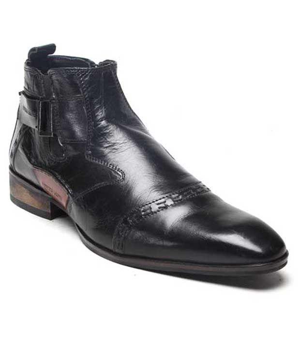 Franco Leone Stylish Black Ankle Length Boots