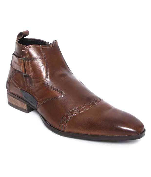 Franco Leone Stylish Brown Ankle Length Boots
