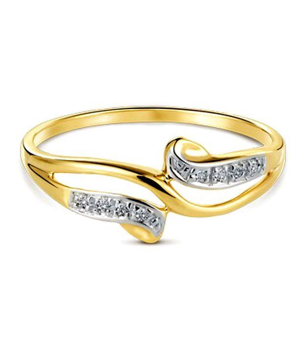 Sanskruti Sanskruti Designer Diamond Sterling Silver Ring