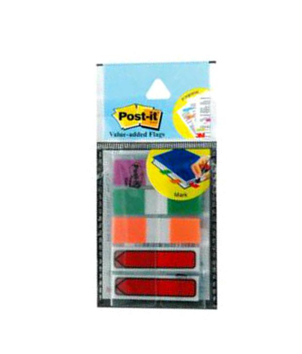 3M Post-it Value Added Flags in 3 colors + Arrow Flags (pack of 10)