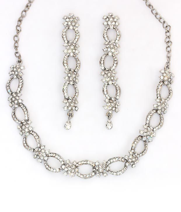 Touchstone Fine Silver Loops AD Necklace Set