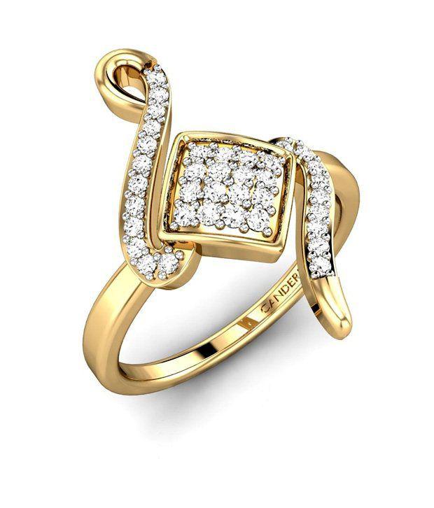 Candere Gold & Diamond The Farnham Diamond Ring