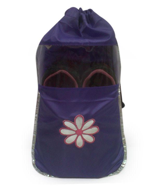 Scarleti Purple Flower Patch Shoe Bag