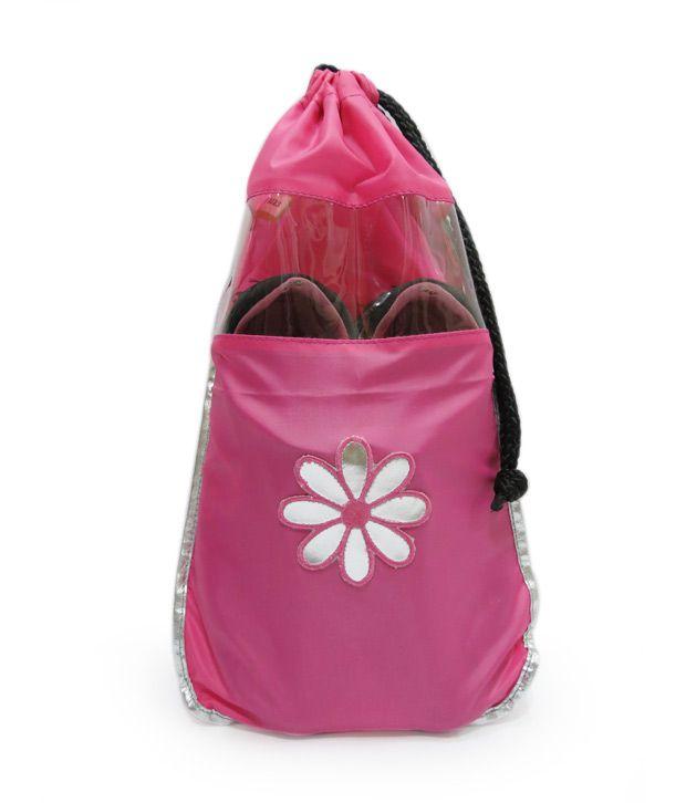 Scarleti Pink Flower Design Shoe Bag