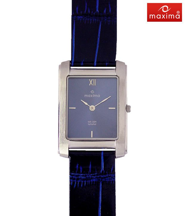 Maxima Blue Leather Watch