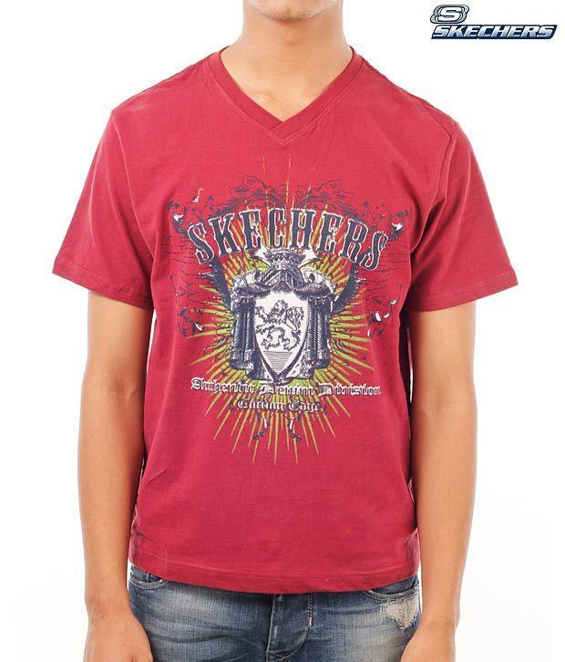Skechers Trendy Red T-Shirt