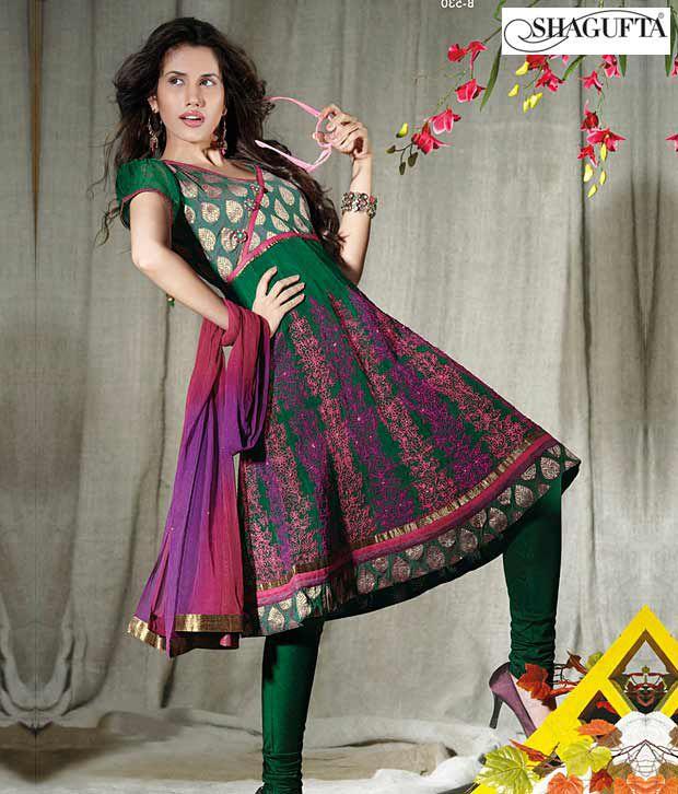 Shagufta Chanderi Banarasi Silk Suit-B-530